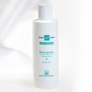 gel detergente viso a.h.a. 5% sweet skin professioanl