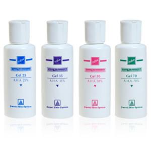 soluzioni gel 25 35 50 70 sweet skin professional